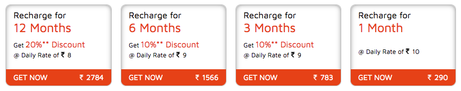 Dish TV Recharge offers