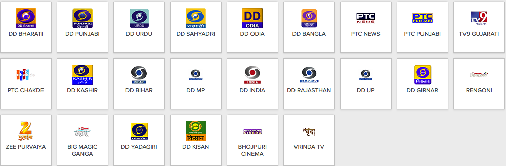 Dish TV Channel list