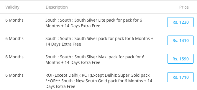 videocon d2h recharge offers for 6 month