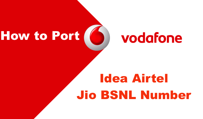 How to port Vodafone number