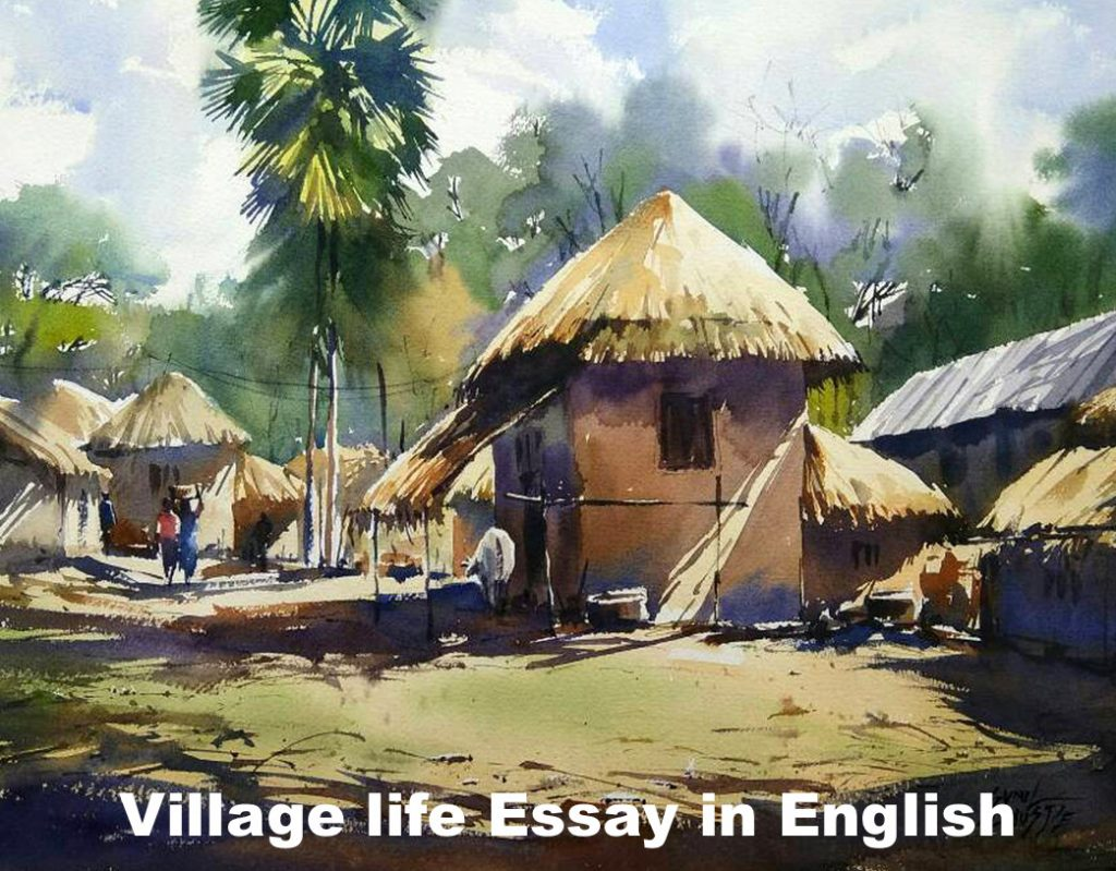 Village life Essay in English