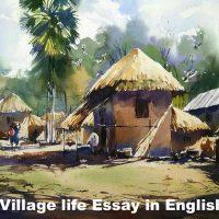Village life Essay in English