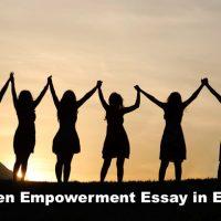 Women Empowerment Essay in English
