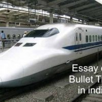 Essay on Bullet Train in india