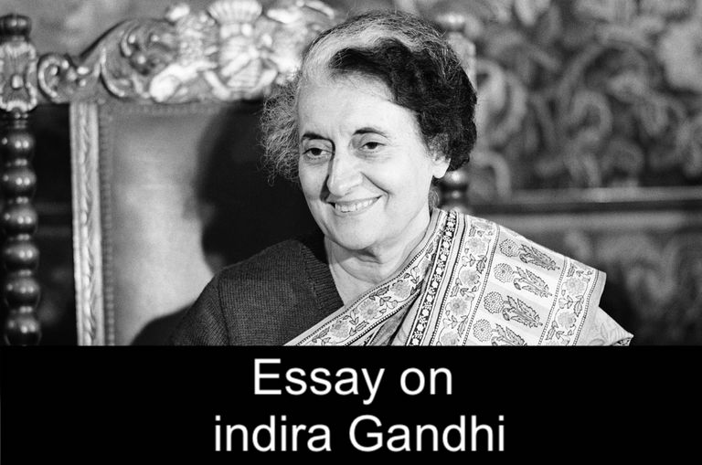 essay on indira gandhi in english