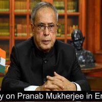 essay-Pranab Mukherjee