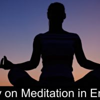 essay on meditation in english