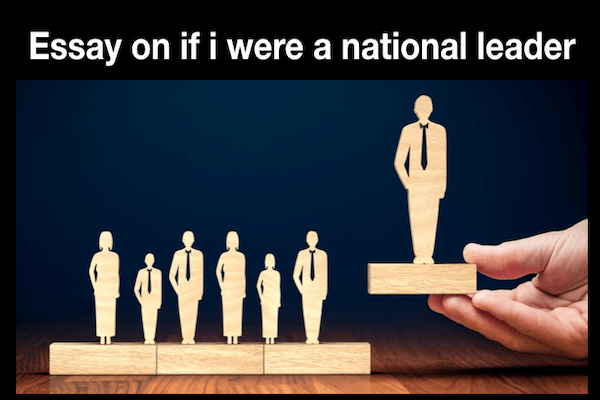 If I Were a National Leader