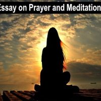 essay on prayer and meditation